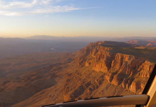 Vista del atardecer en el Grand Canyon
